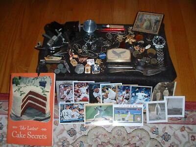 Junk Drawer S.p. Spoon&Fork,Knife,Rivera Cards,Watch,Compass,Brass Buckle,Coins