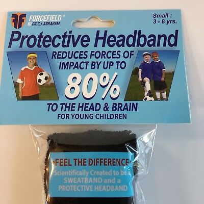 TWO PACK - Forcefield PROTECTIVE Headband Impact Reduction Black Small 3-8 yrs