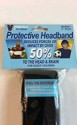 TWO PACK - FORCEFIELD PROTECTIVE Impact Reduction Head Gear Black Medium 9-15 yr