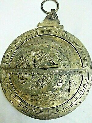 Antique Solid Brass Astrolabe Navigation Astrologic Historical Marine Astrolabe