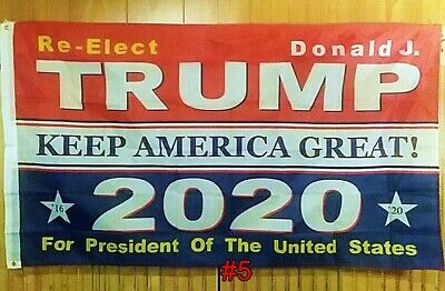 Re-Elect Donald J. Trump For President 2020 Keep America Great Flag MAGA