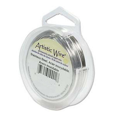 Artistic Wire Stainless Steel 28 Gauge 40 yards 41894 Round Shiny