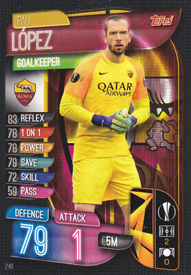 TOPPS MATCH ATTAX EUROPA League 2019-20 - Pau Lopez - AS Roma - # 240