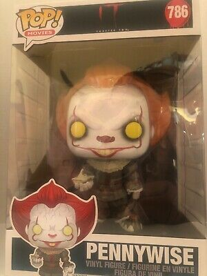 Funko Pop Movies #786 It Chapter 2 Pennywise Figure Giant 10 Inch Size With Boat