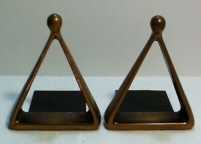 Bronze Mid Century Bookends Jenfred Ware Designed By Ben Seibel For Raymor 1960s