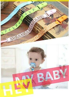4 pack dummy clip pacifier chain newborn baby binky clips soother holder dummie