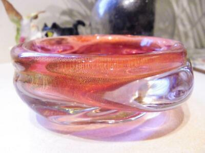 Archimede Seguso 1950's Murano Art Glass Bowl made in Italy