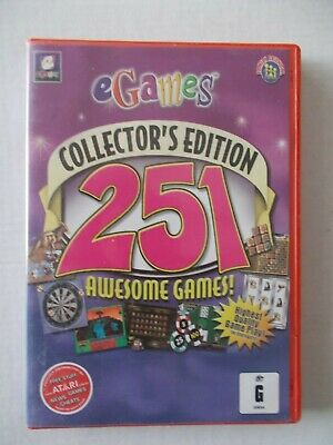- eGAMES COLLECTOR'S EDITION - 251 AWESOME GAMES [PC CD-ROM] BRAND NEW