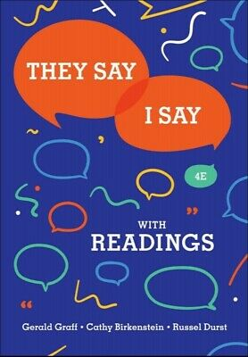 They Say I Say 4th Edition By Gerald Graff [PĐF]