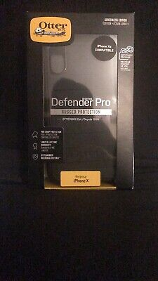 New OtterBox Defender PRO Series Case For Apple iPhone X / iPhone Xs - Black