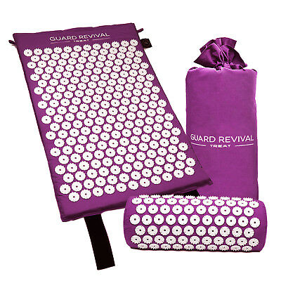 Acupressure Massage Mat with Pillow for Stress/Pain/Tension Relief Body relax G