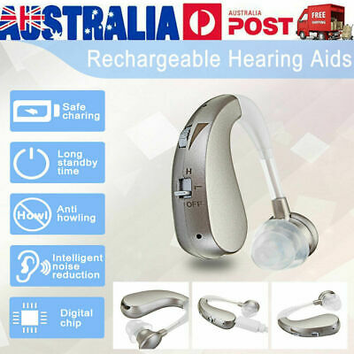 2019 AU Rechargeable Digital Hearing Aid Severe Loss BTE Ear Aids HIGH-POWER G