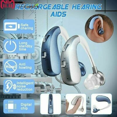 Rechargeable Invisible Digital Hearing Aid Severe Loss BTE Ear Aids HighPower G