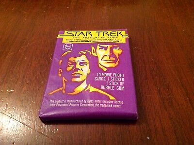 "(1) Unopened Mint Wax Pack- 1979 Topps ""Star Trek The Motion Picture"""