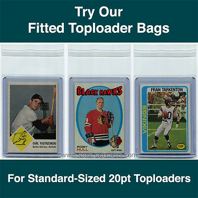 Fitted Bags Top Loader Sleeves for Ultra Pro Toploaders (100 - 1pk) 20pt