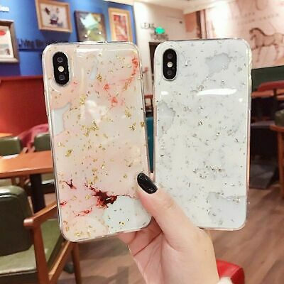For iPhone 11 Pro XS Max XR 8 7 6S Plus Case Shockproof Tough Marble Soft Cover