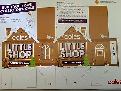 3x Coles Little Shop Gingerbread Christmas New Collectors Case Build Your Own
