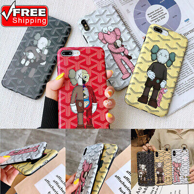 For iPhone 6s-Max Fashion KAWS Pattern Shockproof Ultrathin Soft TPU Phone Case