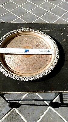 Copper Oval Tray plate reproduction old Sheffield tray
