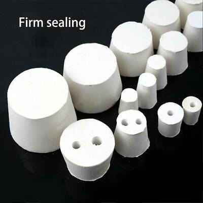 Rubber Stopper Bottle Tapered Hole Bung Water Pipe Lab test Tube Seal Plugs CY2