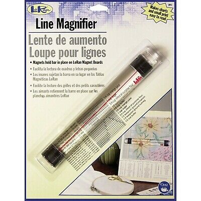 Dritz Loran Magnetic Line Magnifier .875-inch x 6.5-inch, Other, Multicoloure...
