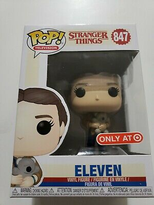 Funko POP ELEVEN with Bear Stranger Things TARGET Exclusive IN HAND Millie Brown