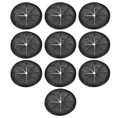Cable Hole Cover 2-inch Soft Plastic Black Desk Grommet for Wire Organizer 10pcs