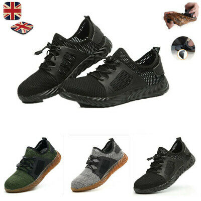 Safety Shoes for Mens Womens Steel Toe Trainers Lightweight Work Shoes Sports UK