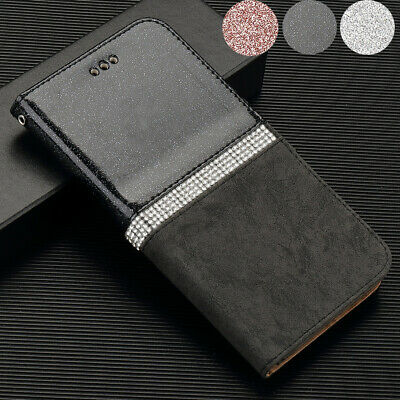iPhone 11 Pro Max Xs/Xr 7 8 Plus Flip Wallet Case Diamond Leather Magnetic Cover