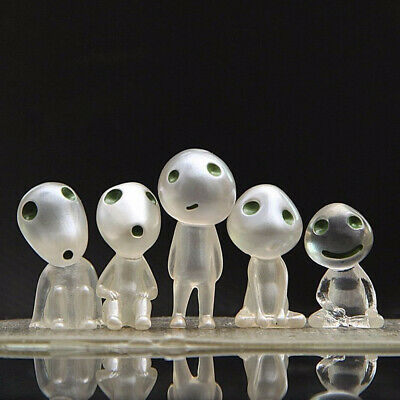 Luminous Princess Mononoke Forest Spirit Elf Kodama Glow In Dark 5PCS Figure Toy
