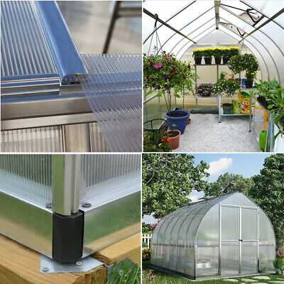 4mm Polycarbonate Roofing Sheet Greenhouse Shed Clear Glazing Twin Wall Panel UK