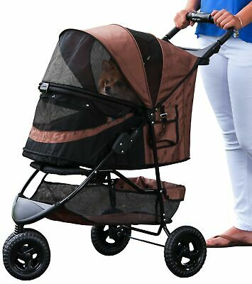 Pet Gear No-Zip Special Edition Stroller, Chocolate Brown