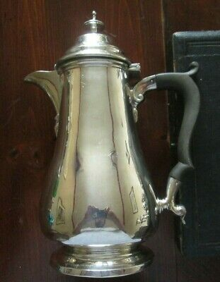 Silver Plated Epns Coffee Pot Hot Water Jug Hinged ;Hawksworth, Eyre & Co