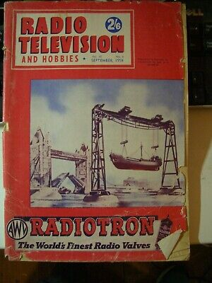 Radio Television and Hobbies Magazine  September 1958 ; Sell for Charity