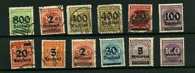 Germany Alemania inflation stamps