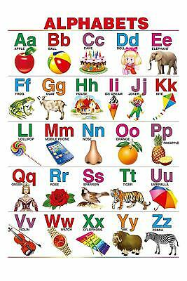 Paper English Alphabet Chart For Kids/Educational Poster/Learning Chart