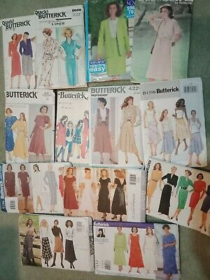 *U-PICK* Various BUTTERICK Ladies Sewing Patterns Dress Skirt Pants Jacket Combo