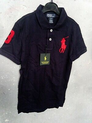 Kids Ralph Lauren Blue polo shirt. Size S (8) Genuine.  New with tags!