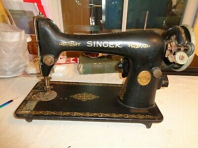 Vintage Singer Sewing Machine 1930 AD047722 USA New Jersey Parts Repair As Is