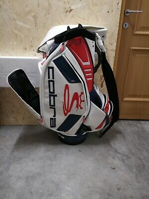 Ian Poulter cobra autographed golf staff bag new