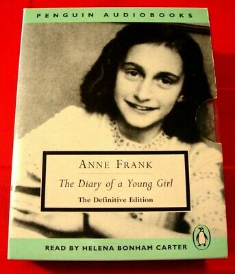 Anne Frank The Diary Of A Young Girl 6-Tape UNABR Audio Bk Helena Bonham Carter