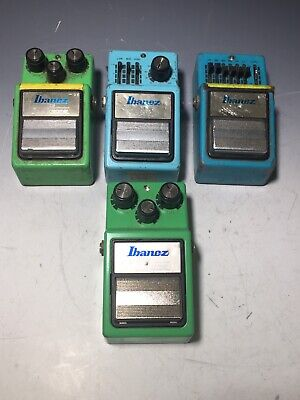 Lot of 4 Ibanez TS9 PQ9 GF9 Guitar Effect Pedals