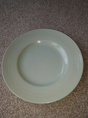 Woods Ware Beryl Vintage Retro ribbed China Green One Dinner Plate10""