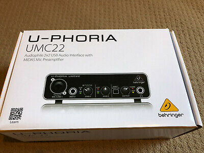 Behringer UMC22 U-PHORIA Audio Interface -