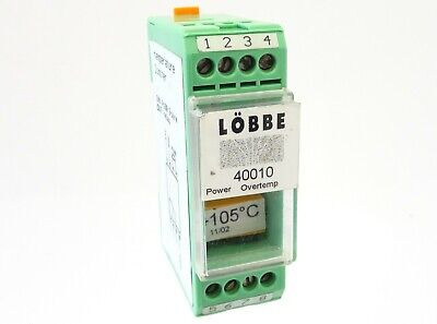 LÖBBE Temperaturbegrenzer 40010 Temperature Limiter +105°C In Pt100 Out Relais