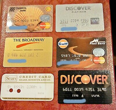Vintage Collectible Credit Cards ~ Lot Of 6 ~ Mastercard, Discover, Stores, Etc
