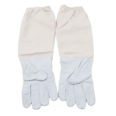 Beekeeping Gloves Leather Canvas Protective Apiarist Tool Bee Supplies NEW