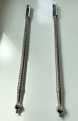 Pair Antique Nickel Plated Brass Bathroom Sink Legs