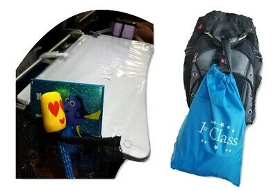 Travel Accessory Plane Tray Table Cover with pockets & Travel Clip Bag 2Pce Set