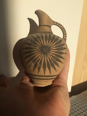 SCARCE CIRCA 400BCE ANCIENT GREEK CORINTHIAN TERRACOTTA Single Handled Jug